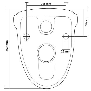 vidaXL Vägghängd toalett med cistern mjuk stängning keramik svart[16/17]