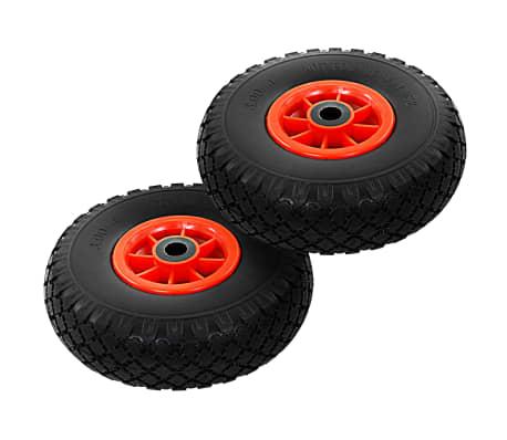 vidaXL Hjul för säckkärra 2 st massiv PU 3.00-4 (260x85)