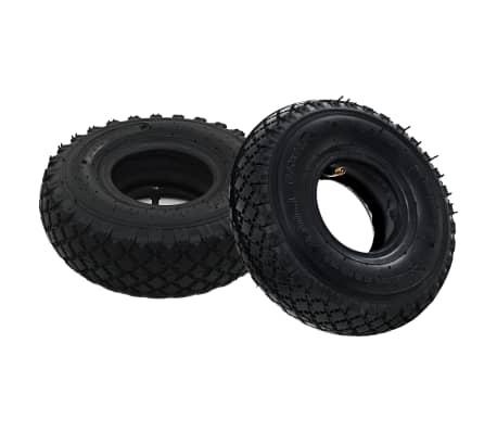 Vidaxl 2x pneus 2 chambres air pour roue de diable - Pneu et chambre a air pour brouette ...