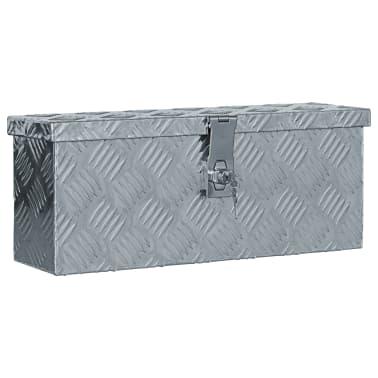 vidaXL aluminiumskasse 48,5 x 14 x 20 cm sølvfarvet[1/7]
