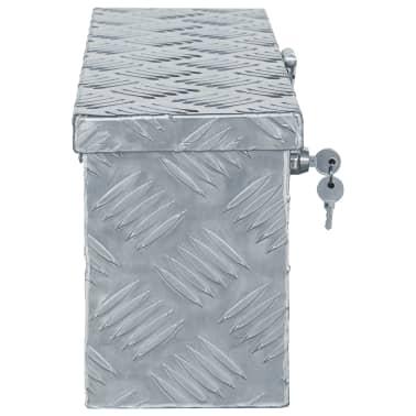 vidaXL aluminiumskasse 48,5 x 14 x 20 cm sølvfarvet[2/7]