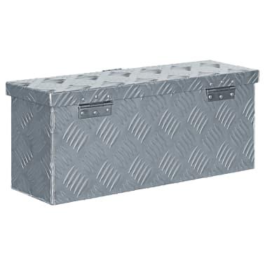 vidaXL aluminiumskasse 48,5 x 14 x 20 cm sølvfarvet[3/7]