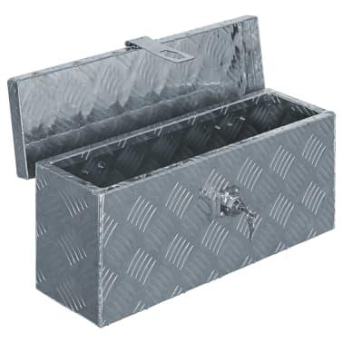 vidaXL aluminiumskasse 48,5 x 14 x 20 cm sølvfarvet[4/7]