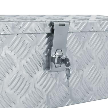 vidaXL aluminiumskasse 48,5 x 14 x 20 cm sølvfarvet[5/7]