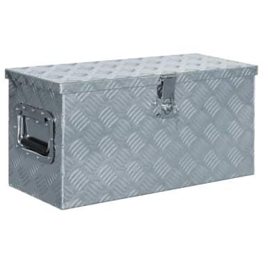 vidaXL Caja de aluminio 61,5x26,5x30 cm plateada[1/7]