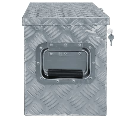 vidaXL Caja de aluminio 61,5x26,5x30 cm plateada[2/7]