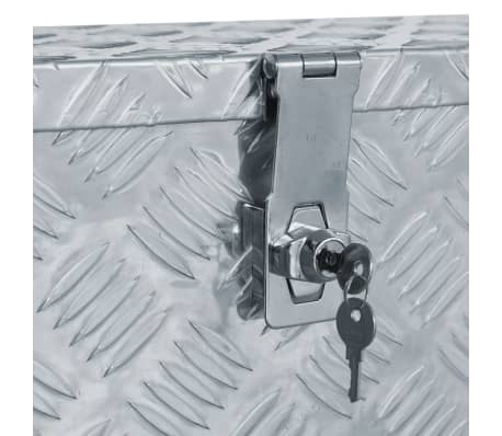 vidaXL Caja de aluminio 61,5x26,5x30 cm plateada[5/7]