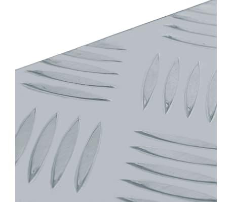 vidaXL Caja de aluminio 61,5x26,5x30 cm plateada[6/7]