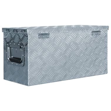 vidaXL Caja de aluminio 61,5x26,5x30 cm plateada[3/7]