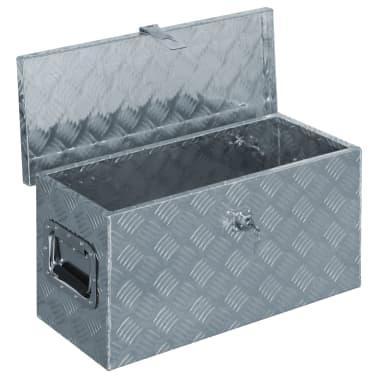 vidaXL Caja de aluminio 61,5x26,5x30 cm plateada[4/7]