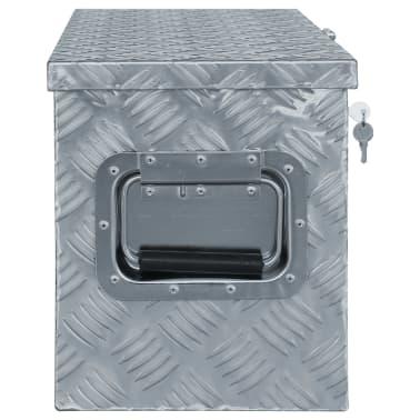vidaXL Caja de aluminio 80,5x22x22 cm plateada[2/7]