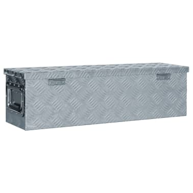 vidaXL Caja de aluminio 80,5x22x22 cm plateada[3/7]