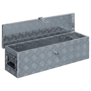 vidaXL Caja de aluminio 80,5x22x22 cm plateada[4/7]