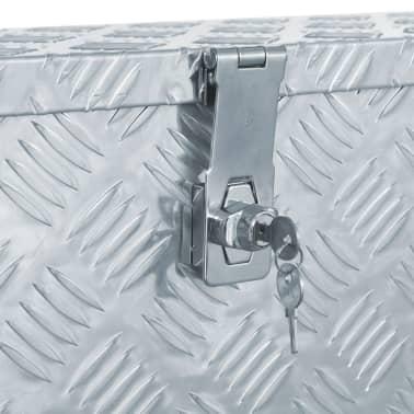 vidaXL Caja de aluminio 80,5x22x22 cm plateada[5/7]