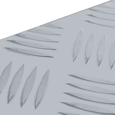 vidaXL Caja de aluminio 80,5x22x22 cm plateada[6/7]