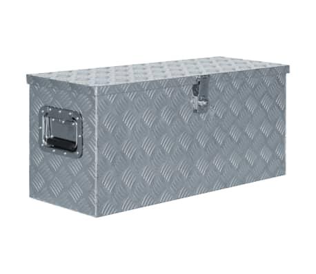 vidaXL Aluminium Box 80x30x35 cm Silver