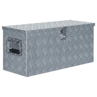 vidaXL Aluminiowa skrzynia, 80 x 30 x 35 cm, srebrna[1/7]
