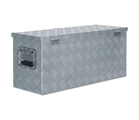vidaXL Aluminiowa skrzynia, 80 x 30 x 35 cm, srebrna[3/7]