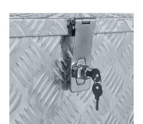 vidaXL Aluminiowa skrzynia, 80 x 30 x 35 cm, srebrna[5/7]