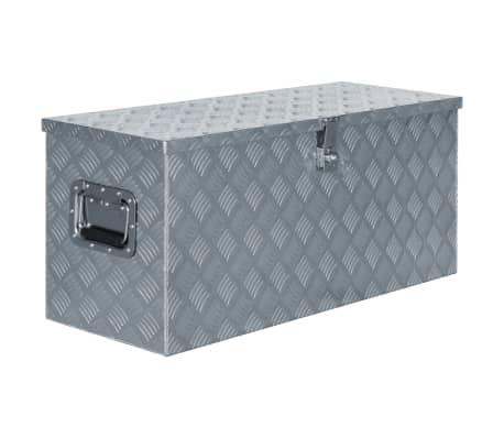 vidaXL Alumiinilaatikko 90,5x35x40 cm hopea[1/7]