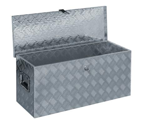 vidaXL Alumiinilaatikko 90,5x35x40 cm hopea[4/7]
