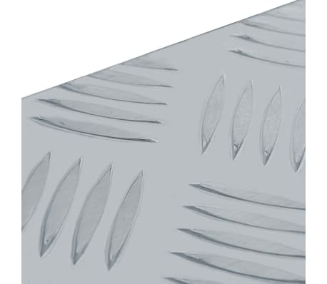 vidaXL Alumiinilaatikko 90,5x35x40 cm hopea[6/7]