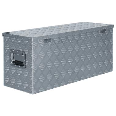 vidaXL Alumiinilaatikko 90,5x35x40 cm hopea[3/7]