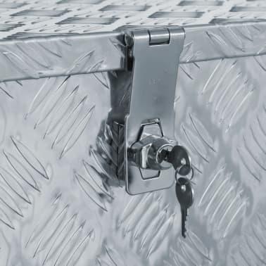 vidaXL Alumiinilaatikko 90,5x35x40 cm hopea[5/7]