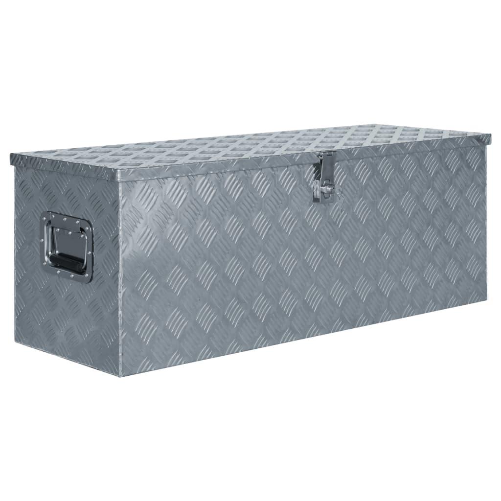 vidaXL Hliníkový box 110,5 x 38,5 x 40 cm stříbrný