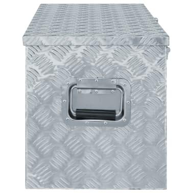 "vidaXL Aluminum Box 43.5""x15.2""x15.7"" Silver[2/6]"