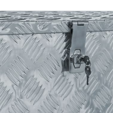 "vidaXL Aluminum Box 43.5""x15.2""x15.7"" Silver[4/6]"