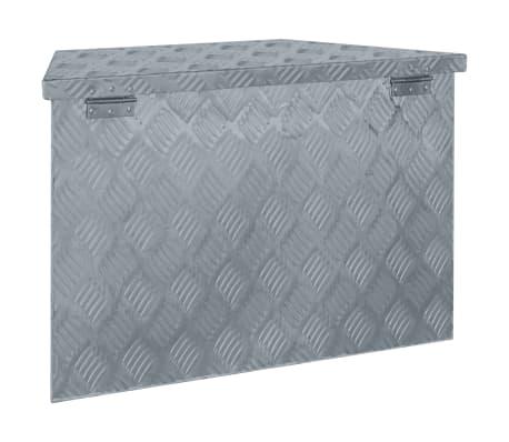 Vidaxl Alumiiniumist Kast 70 X 24 X 42 Cm Trapetsikujuline Hõbedane
