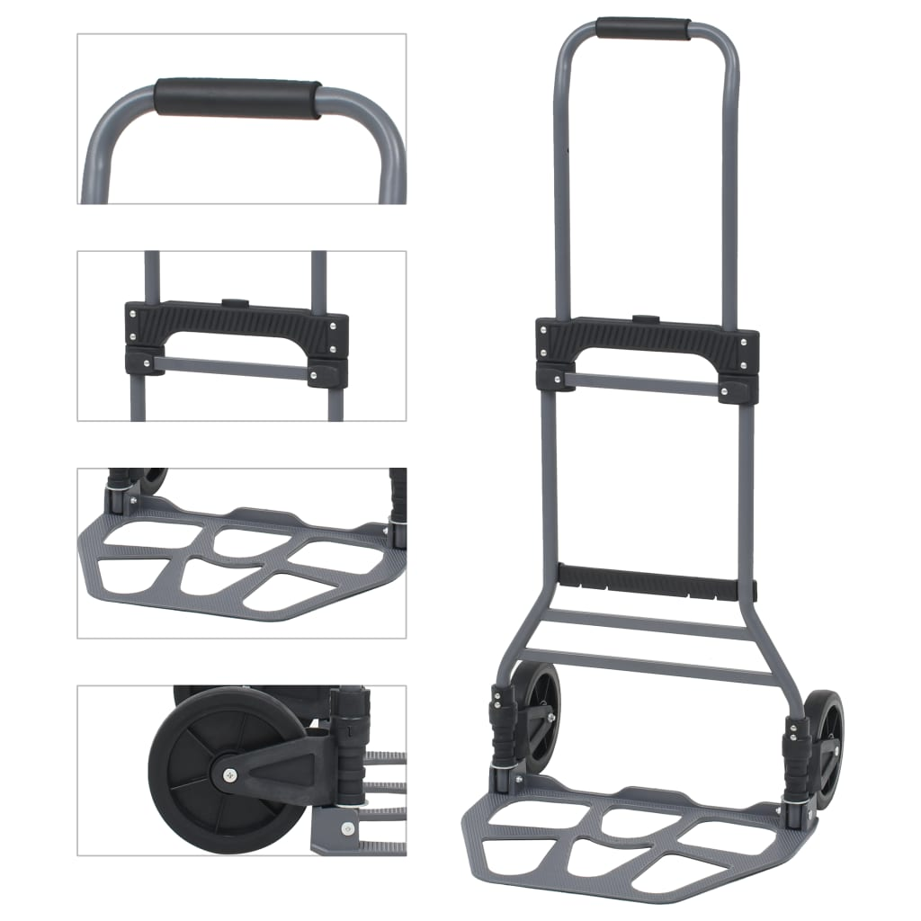Skládací ruční vozík hliníkový 130 kg