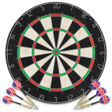 vidaXL Professional Dart Set with Dartboard Sisal Steel