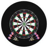 vidaXL Professional Dart Set with Dartboard and Surround Sisal Steel