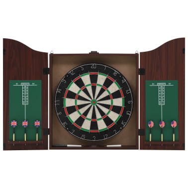 vidaXL Dartbord professioneel met kast en 6 darts sisal[1/7]
