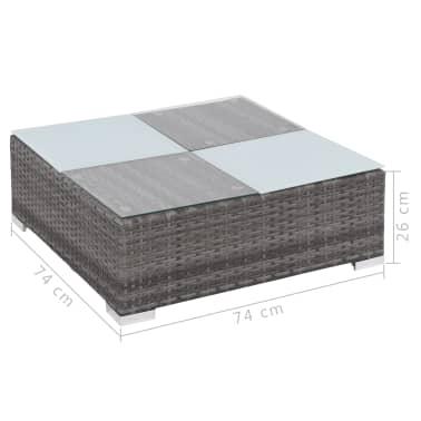 vidaXL Loungegrupp för trädgården med dynor 8 delar konstrotting grå[11/11]