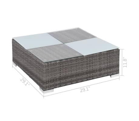 vidaXL 12 Piece Garden Lounge Set with Cushions Poly Rattan Gray[13/13]