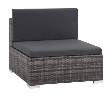 vidaXL 12 Piece Garden Lounge Set with Cushions Poly Rattan Gray[4/13]