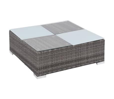 vidaXL 12 Piece Garden Lounge Set with Cushions Poly Rattan Gray[6/13]