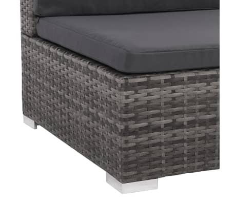 vidaXL 12 Piece Garden Lounge Set with Cushions Poly Rattan Gray[8/13]
