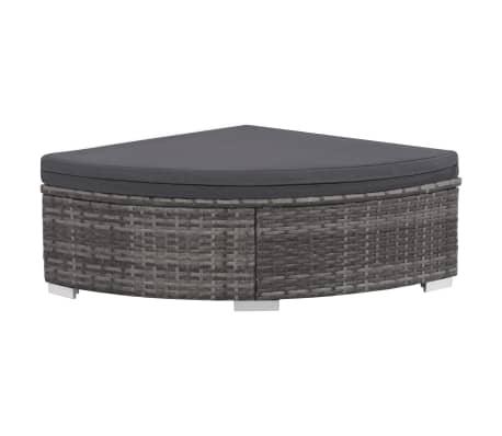 vidaXL 6 Piece Garden Lounge Set with Cushions Poly Rattan Gray[5/9]