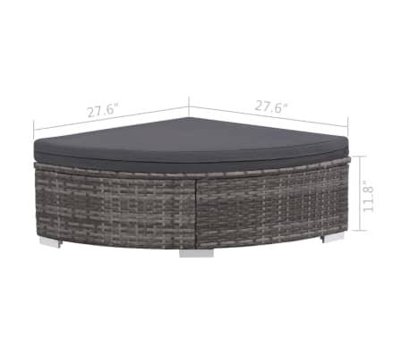vidaXL 6 Piece Garden Lounge Set with Cushions Poly Rattan Gray[9/9]