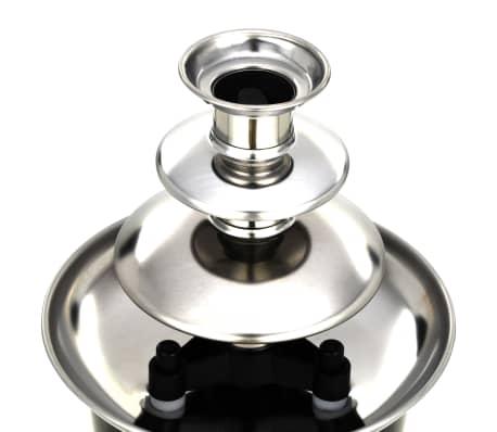 vidaXL Chokladfontän rostfritt stål svart 60 W[5/7]