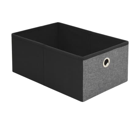 vidaXL Förvaringsbänk hopfällbar konstlinne 76x38x38 cm mörkgrå[8/9]