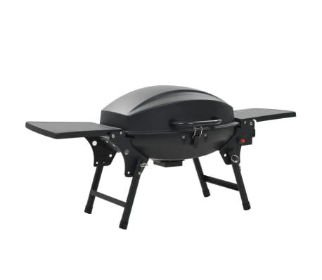 vidaXL Gasbarbecue met kookzone zwart[1/12]