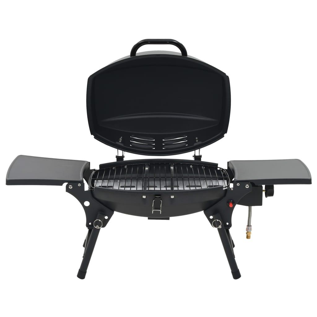 vidaXL Gasbarbecue met kookzone zwart