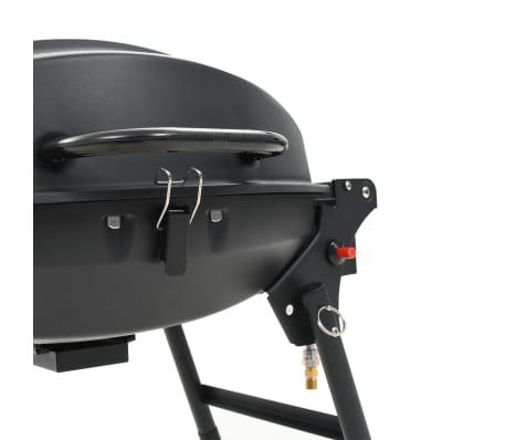 vidaXL Barbecue e Griglia a Gas Portatile con Fornello Nero[11/12]