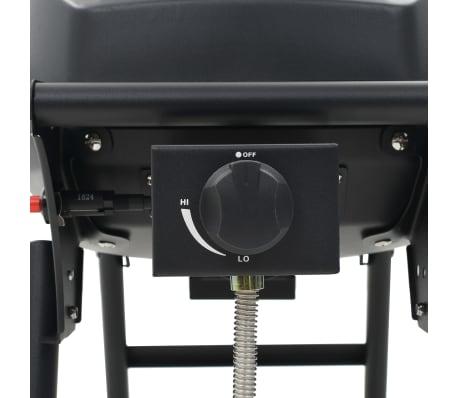 vidaXL Gasbarbecue met kookzone zwart[12/12]