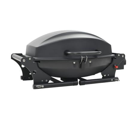vidaXL Barbecue e Griglia a Gas Portatile con Fornello Nero[8/12]